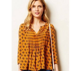 Anthropologie Vanessa Virginia Mahdia Blouse